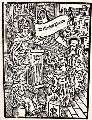 Thomas von Aquin Holzschnitt ööln 1510