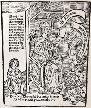 thomas von aquin Köln Holzschnitt 1510